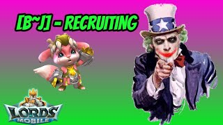 Lords Mobile - B~J Recruiting