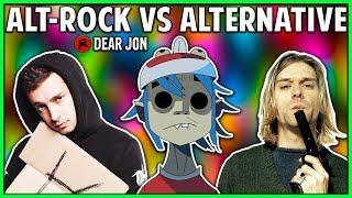 ALTERNATIVE ROCK VS ALTERNATIVE! What's the Difference? | Dear Jon
