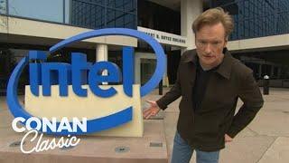 Conan Visits Intel's Headquarters -