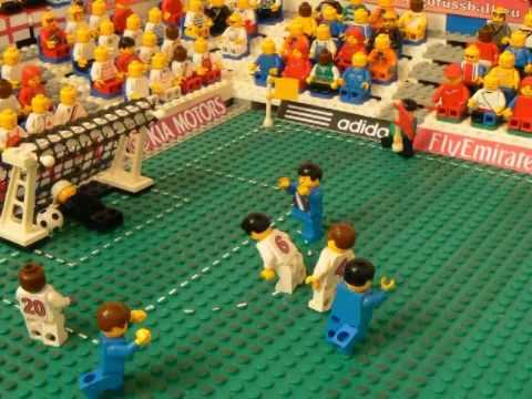 Anglia - USA - MŚ 2010 w wersji Lego