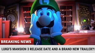 Breaking Nintendo News: LUIGI'S MANSION 3 RELEASE DATE AND A BRAND NEW TRAILER?!