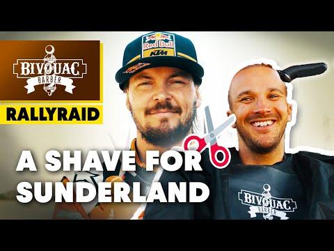 Toby Price Shaves Sam Sunderland's Head