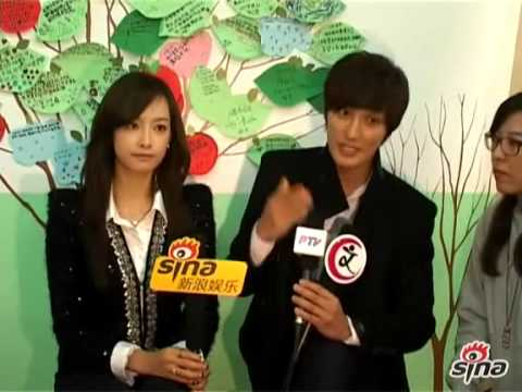 [SINA] 121102 Victoria & Kangta - Charity Event In Beijing (Interview)