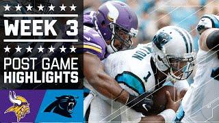 Vikings vs. Panthers | NFL Week 3 Game Highlights