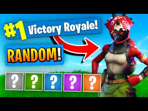 The *RANDOM* Outfit Challenge In Fortnite Battle Royale!