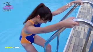 Swimsuit Arena Racing Blue & Orange Swimsuit Competitive Waterproof Model