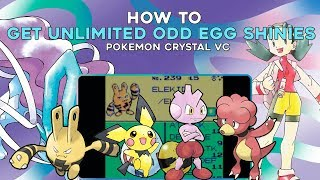 Pokemon Crystal 3DS (VC): How to get Unlimited ODD Egg Shiny Pokemon