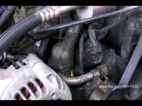 96 98 Chevy C K Pickup Thermostat Replacement And Ground
