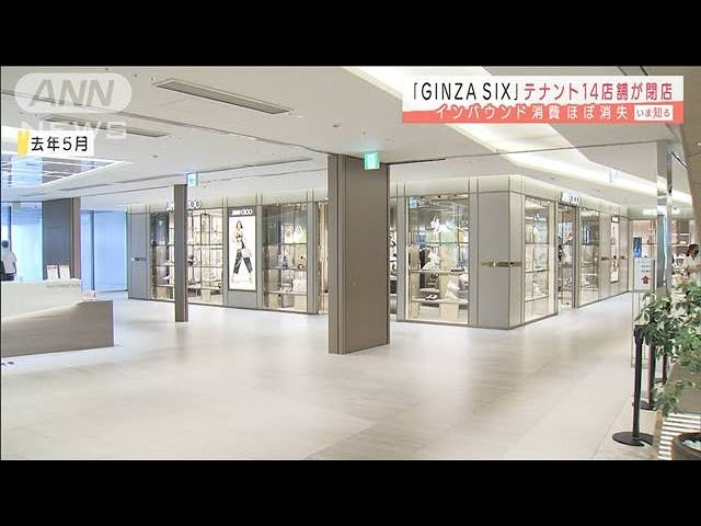 Greater than a dozen shops shut in Tokyo's high-end Ginza Six mall