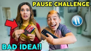 PAUSE CHALLENGE With PARENTS For 24 HOURS! *Bad Idea*  | The Royalty Family