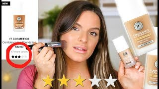 TESTING THE WORST RATED NEW FOUNDATION!? IT COSMETICS CONFIDENCE IN A FOUNDATION    Casey Holmes