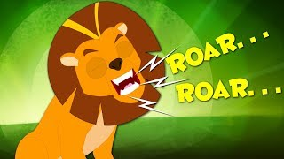Roar Roar Lion | Animal Sounds Song | Nursery Rhymes For Kids And Babies