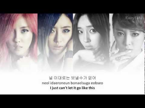 T-ara - Don't leave~ lyrics on screen (KOR/ROM/ENG)