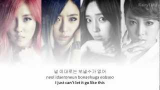 T-ara - Don't leave~ lyrics on screen (KOR/ROM/ENG)