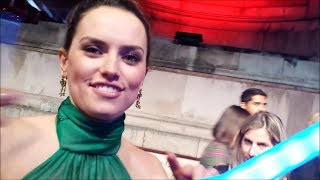 DAISY RIDLEY signs a LIGHTSABER 4 'Force for Change' charity Star Wars @ Orient Express premiere
