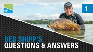 A thumbnail for the match fishing video The Des Shipp Q&A - Episode ONE - GET YOUR FISHING QUESTIONS ANSWERED BY DES!