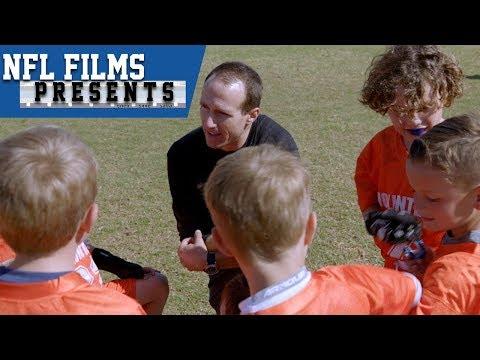 Drew Brees Loves His Second Job: Kids Flag Football Coach | NFL Films Presents