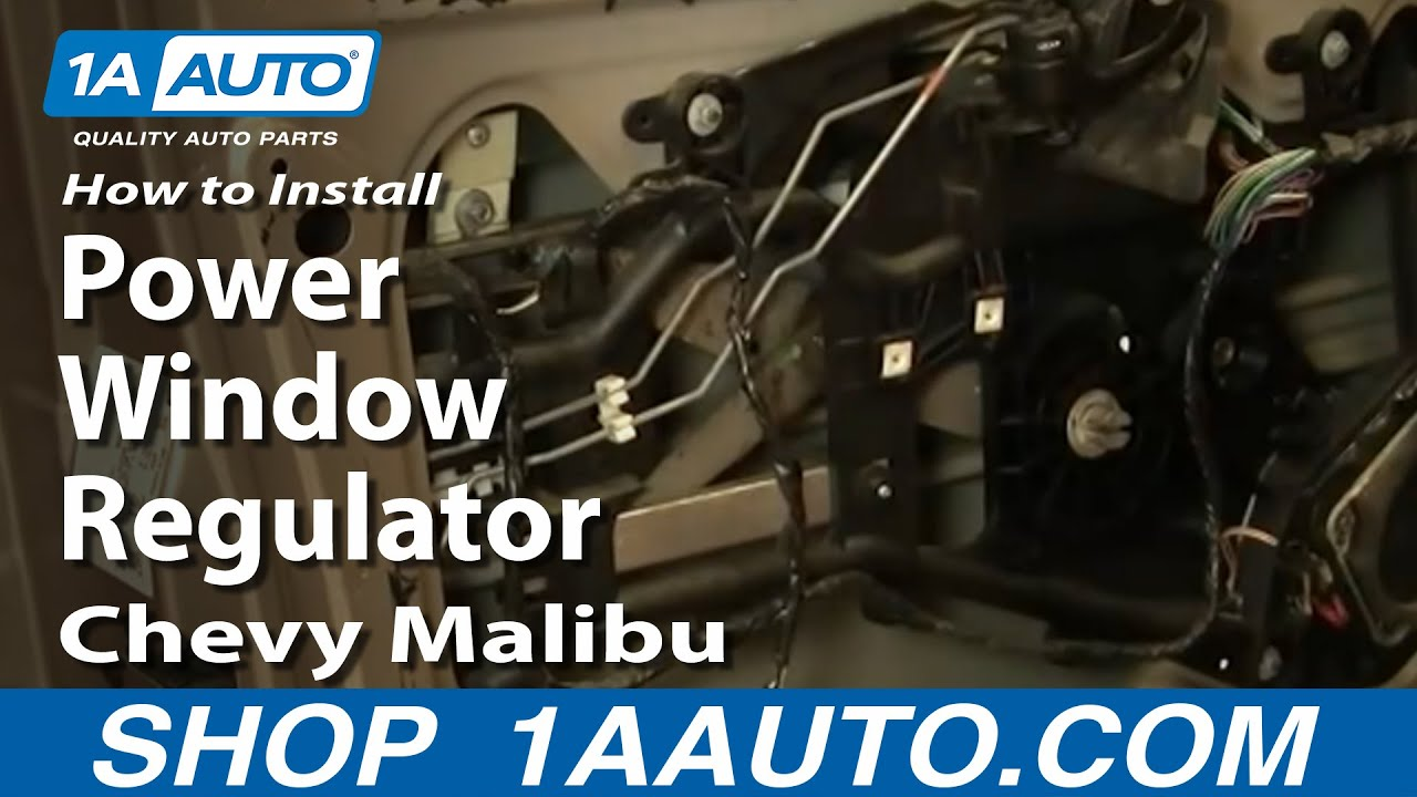 How To Install Replace Power Window Regulator Chevy Malibu