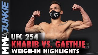 UFC 254 official weigh-in highlights: Two overweight