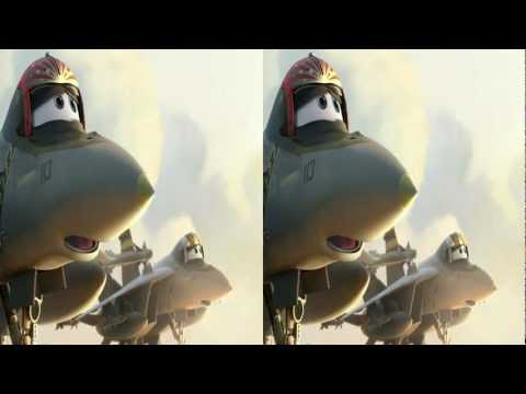 Planes 3d trailer in 3d