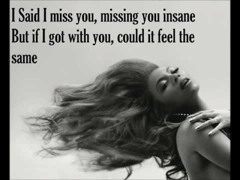 I miss you-Beyonce lyrics