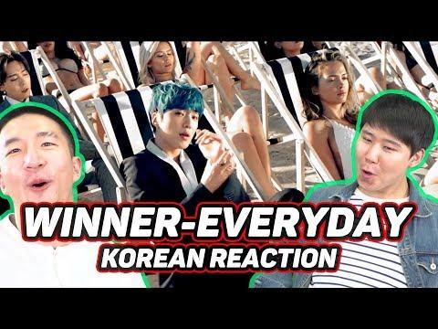 KOREANS react to WINNER - EVERYDAY!!!