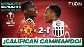 Highlights | Man United 2-1 LASK | Europa League 2020 - Octavos final | TUDN