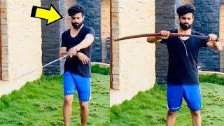 Watch: Ravindra Jadeja's sword play; Rohit Sharma sings so..