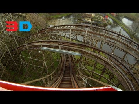 Megafobia 3D Front seat on-ride HD POV, Oakwood Theme Park, Wales