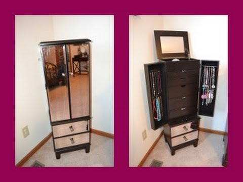 Review Hayworth Jewelry Armoire In Espresso Youtube
