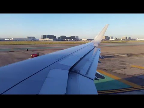 Takeoff roll at LAX on an AA A321T (time lapsed)