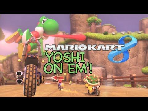 YOSHI ON EM'! [MARIO KART 8] [GAMEPLAY]