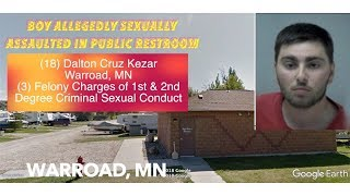 CHILD SAFETY: Boy Allegedly Sexually Assaulted In Warroad Public Restroom