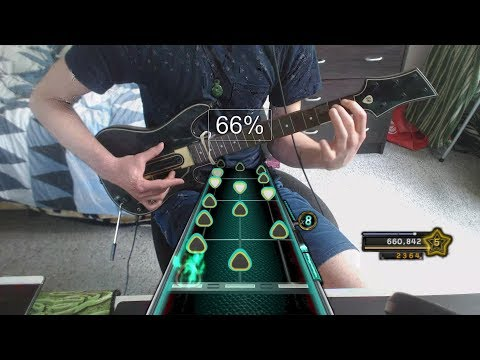 When you play Dragonforce on plastic guitar