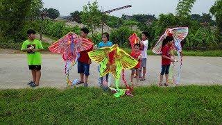 Đi Lên Bờ Đê Chơi Thả Diều Đồ Chơi - Kite Flying At The Dyke   MN Toys Family Vlogs