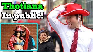 THOTIANA - Blueface, CARDI B - (Thotiana dance challenge in PUBLIC!!)
