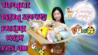 OVER $1300 LICENSED SQUISHIES BIGGEST DREAM SQUISHY PACKAGE EVER FROM CREAMIICANDY & PUNI-MARU