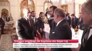Erdoğan empfängt die Kapitäne der Süper Lig