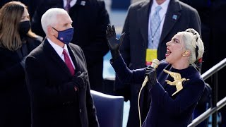Watch: Lady Gaga belts out the American anthem