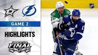 NHL Highlights | Stanley Cup Final, Gm2 Dallas Stars @ Tampa Bay Lightning - Sept. 21, 2020