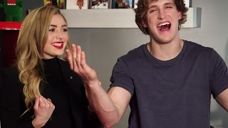 Logan Paul & Peyton List Take Pop Culture Pop Quiz