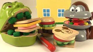 Shrek et le Singe Sandwichs Mickey Mouse en Bois à Découper
