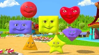 We are Shapes Song | Preschool Learning Videos & Nursery Rhymes | Cartoons by Little Treehouse