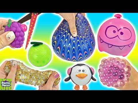 Homemade Squishy Collection It Z Just Cute : Cutting Open Squishy Grapes Toy! Homemade Stress Balls! Gold Star Slime Mesh Ball Doctor Squish ...