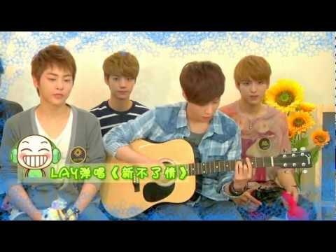 120420 EXO-M Music Guest Lay Solo Cut 新不了情@Yin Yue Tai
