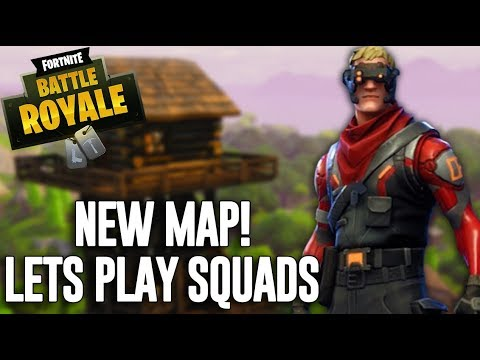 New Map?! Let's Play Squads - Fortnite Battle Royale Gameplay - Ninja