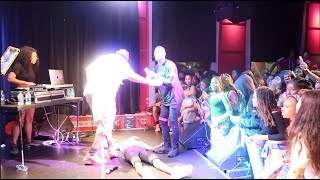 PASSING OUT ON STAGE PRANK ON FANS AT OUR CONCERT IN BOSTON!!! #FeverTour
