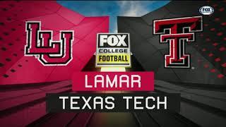 2018 Texas Tech Football Highlights - Lamar
