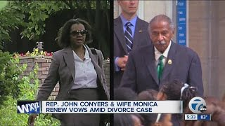 Congressman John Conyers, wife Monica renew vows amid divorce proceedings
