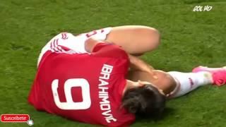 IMPACTANTE LESIÓN ZLATAN IBRAHIMOVIC injury  Manchester United vs Anderlecht 20 04 2017